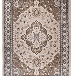 Tapis De Couloir Traditionnel Medieval - Couleur Beige Clair Motif Oriental - La Qualité Au Meilleur Prix - Différentes Dimensions S-XXXL 80 x 400 cm