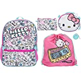 Hello Kitty 5 Piece Backpack Set for Girls