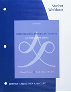 Amazon interpersonal process in therapy an integrative model student workbook for teybermcclures interpersonal process in therapy an integrative model negle Choice Image