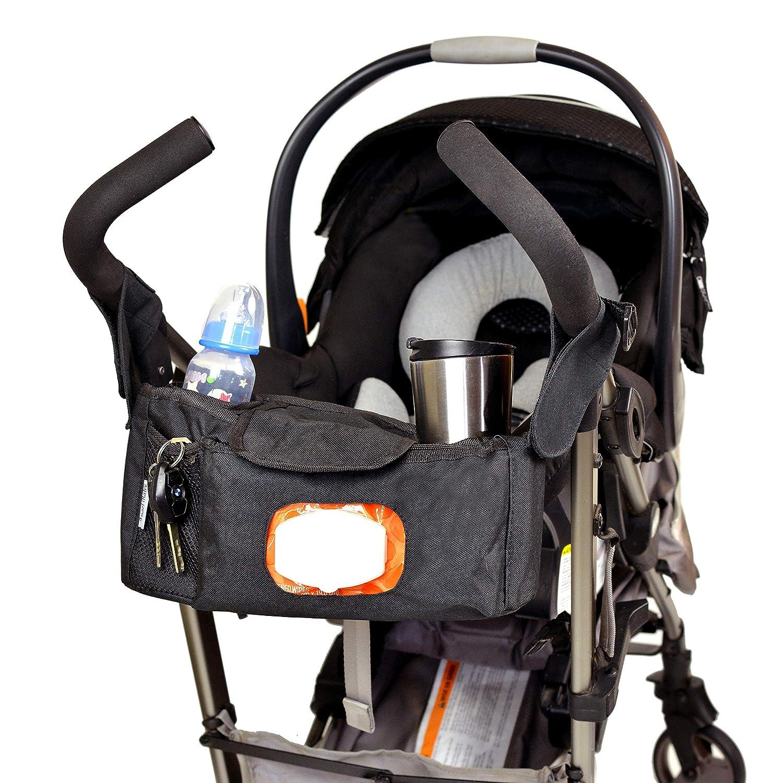 Bolsa para pañales (con compartimentos para cochecito de Angel Baby con bandouliãˆres y bolsillo para toallitas para carritos (Universal con doble ...