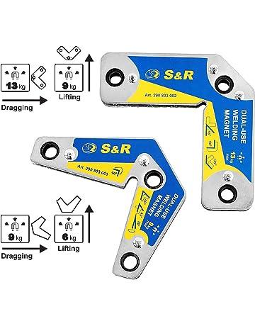 S&R Imanes Soldadura Magneticos con ángulos de 15°, 45°, 60°,