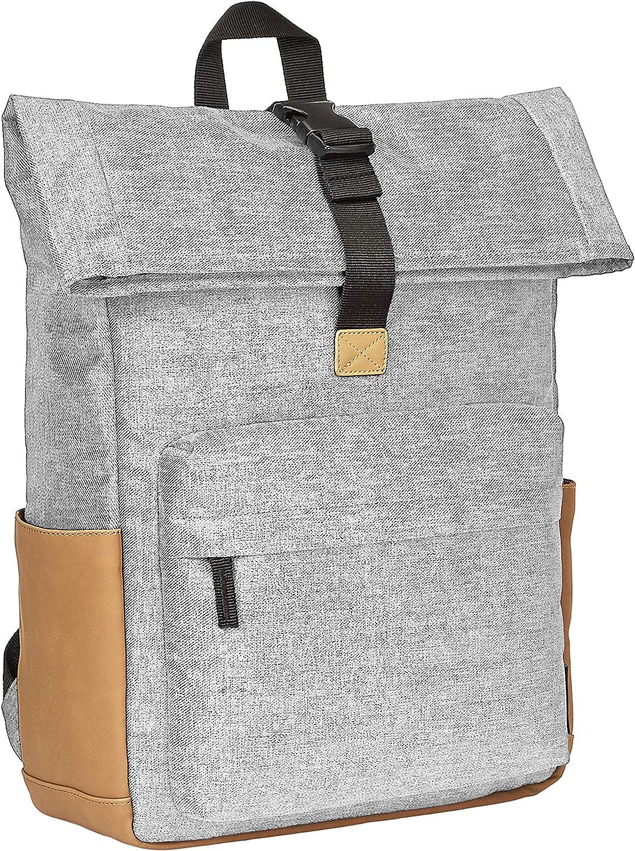 AmazonBasics Anti-Theft Roll Top Backpack - Grey