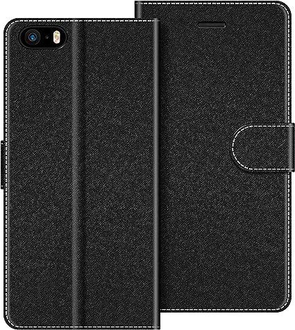 COODIO Funda iPhone 5S con Tapa, Funda Movil iPhone SE, Funda ...