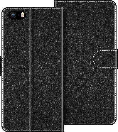 COODIO Custodia per iPhone 5S, Custodia in Pelle iPhone SE, Cover a Libro iPhone 5 Magnetica Portafoglio per iPhone SE/iPhone 5S / iPhone 5 Cover(Non ...