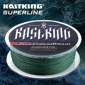 KastKing SuperPower Green Braided Fishing Line