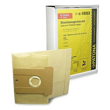10x Bolsas de aspiradora papel para AEG Größe / Typ 22 23 24 25 26 - AEG Vampyr 700 - 799 800 - 899 6100 - 7999 8000 - 8999 Comfort 625el Comfort ...