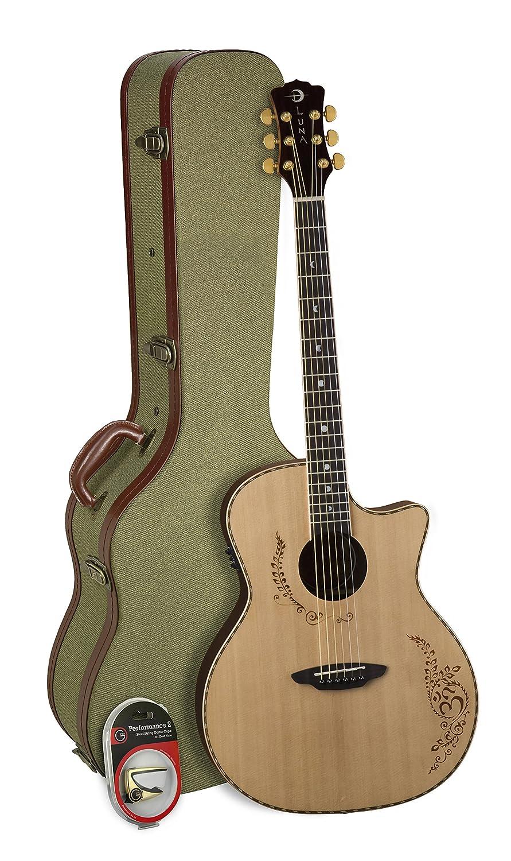 Luna Guitars edición limitada Luna Vicki Genfan Firma Electro ...