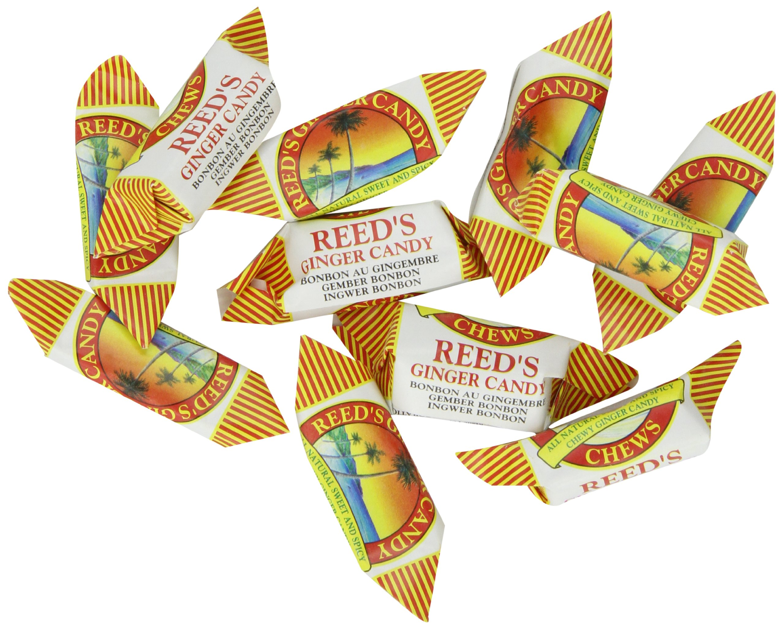 Reeds Ginger Candy Chews, 11 Pound