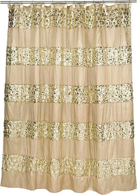 Champagne and Gold Popular Bath Sinatra Bath Rug with Sequins