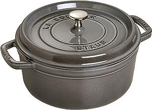 staub (stove) Staub Mini Round Dutch Oven 0.75-Quart Graphite Grey