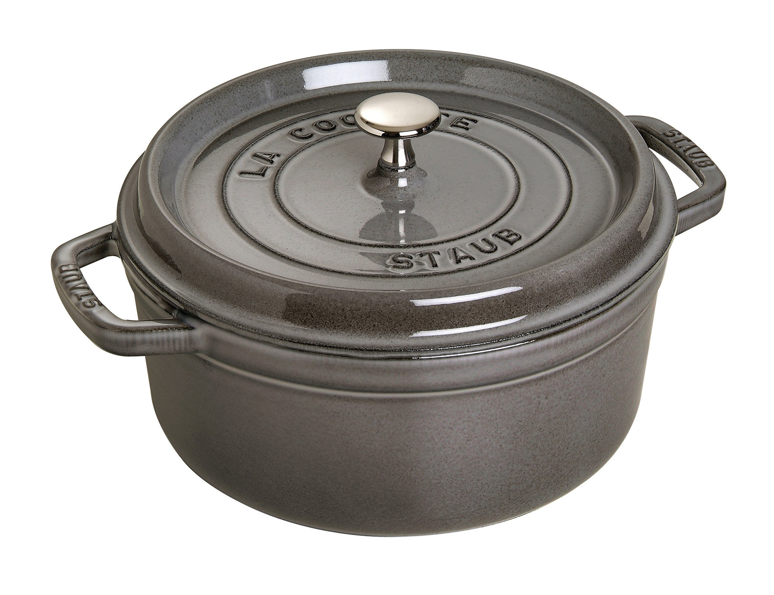 Staub Round Dutch Oven 9-quart Graphite Grey