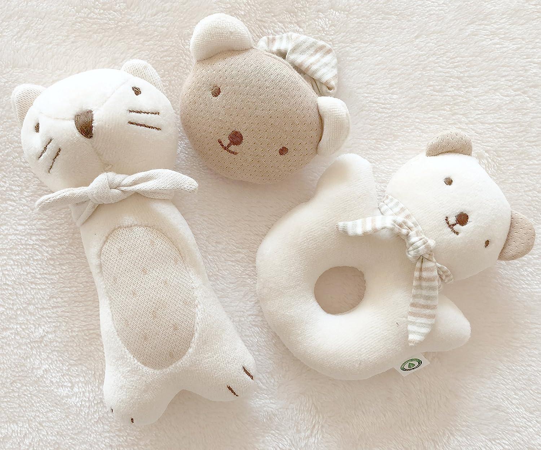 No teñido algodón orgánico bebé primer juguete