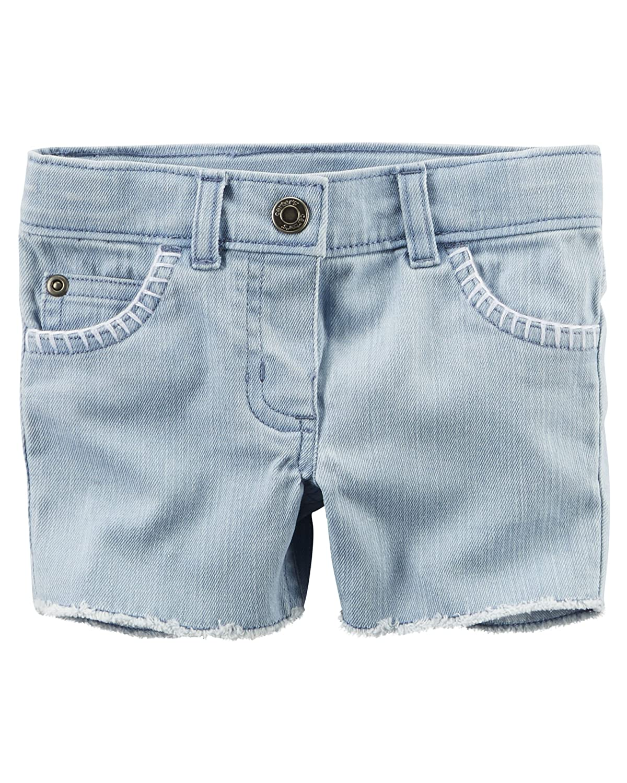 Light Denim Carters Girls Cut-Off Light Denim Shorts
