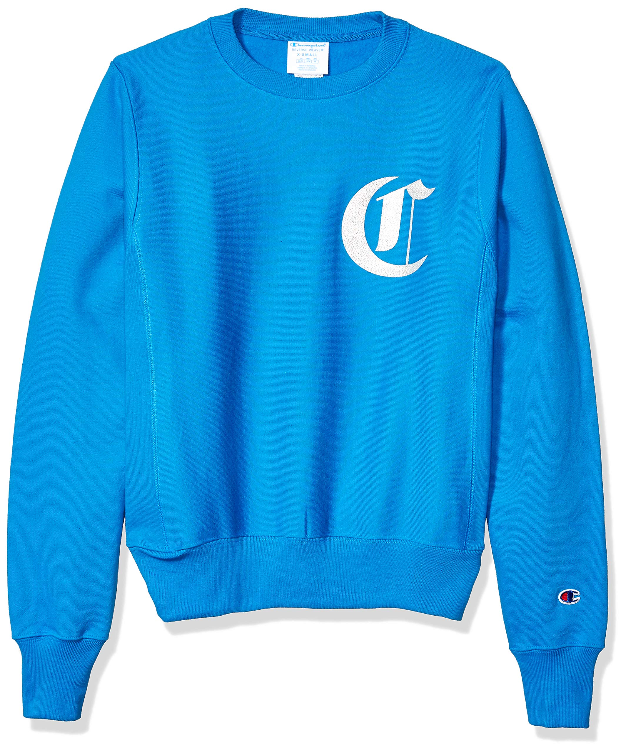 Champion LIFE Men's Reverse Weave Sweatshirt, Running Waves w/Old English Lettering, Large by Champion LIFE