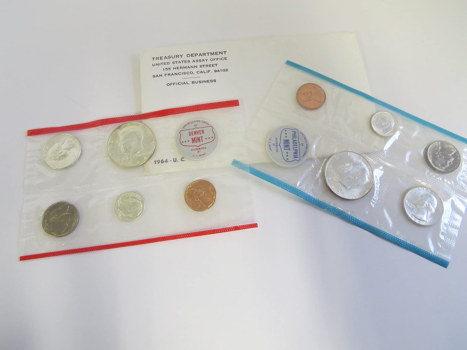 1964 Various Mint Marks Mint Set Perfect Uncirculated
