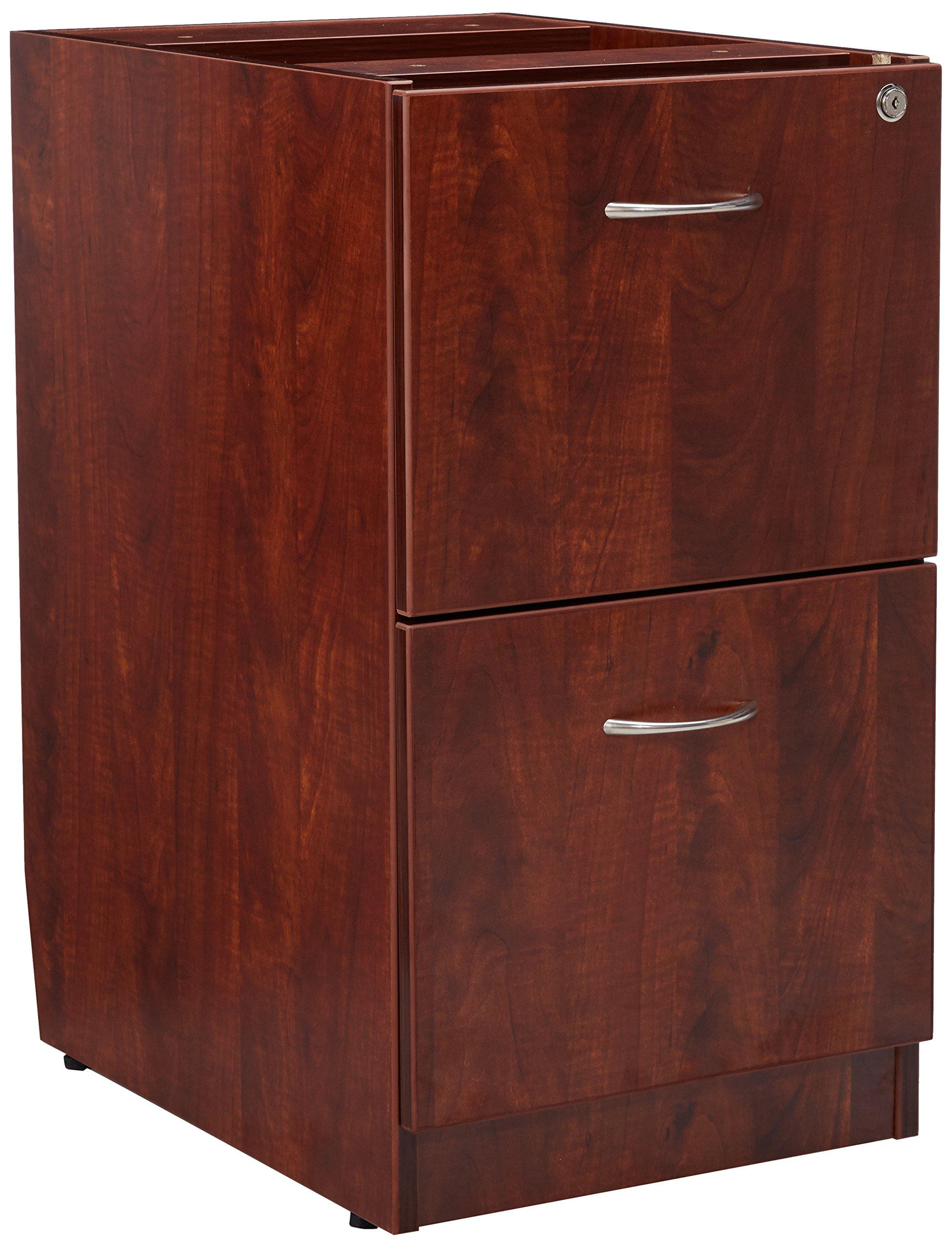 Lorell LLR69606 69000 Series Free Standing Fixed Pedestals, Cherry