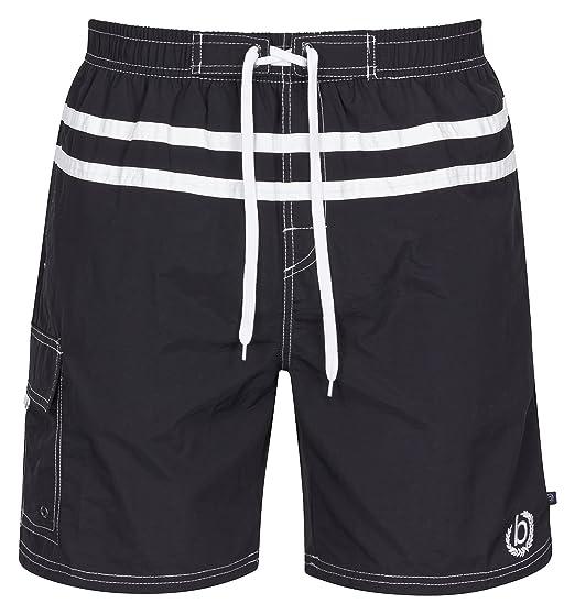 90b2dda159 Bugatti® men's swim shorts. - Black - Small: Amazon.co.uk: Clothing