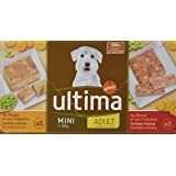 Ultima Terrines Sublime pour Chien Adulte Bœuf et Légumes et Poulet et Légumes 4 x 150 g