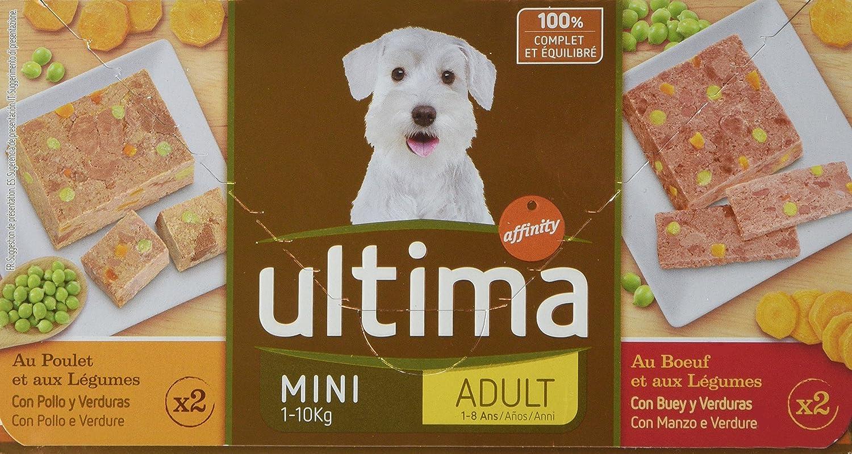 Ultima Terrines Sublime pour Chien Adulte Bœuf et Légumes et Poulet et Légumes 4 x 150 g 93610