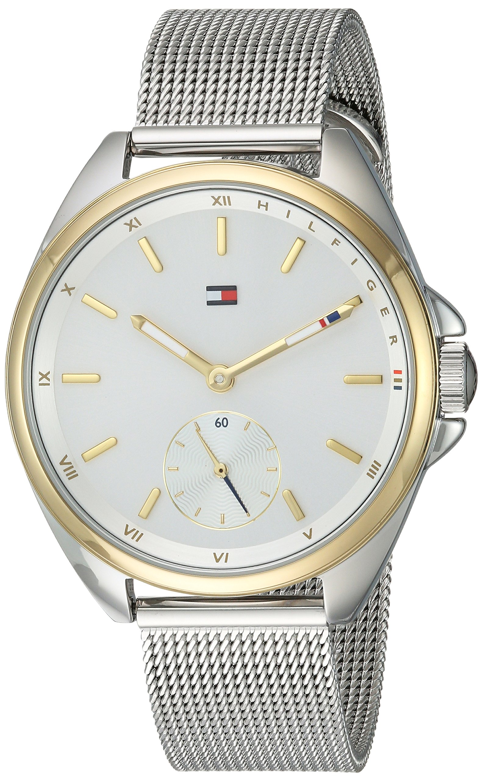 Tommy Hilfiger Women's 'SPORT' Quartz Silver and Gold and Stainless Steel Casual Watch, Color:Two Tone (Model: 1781759) by Tommy Hilfiger