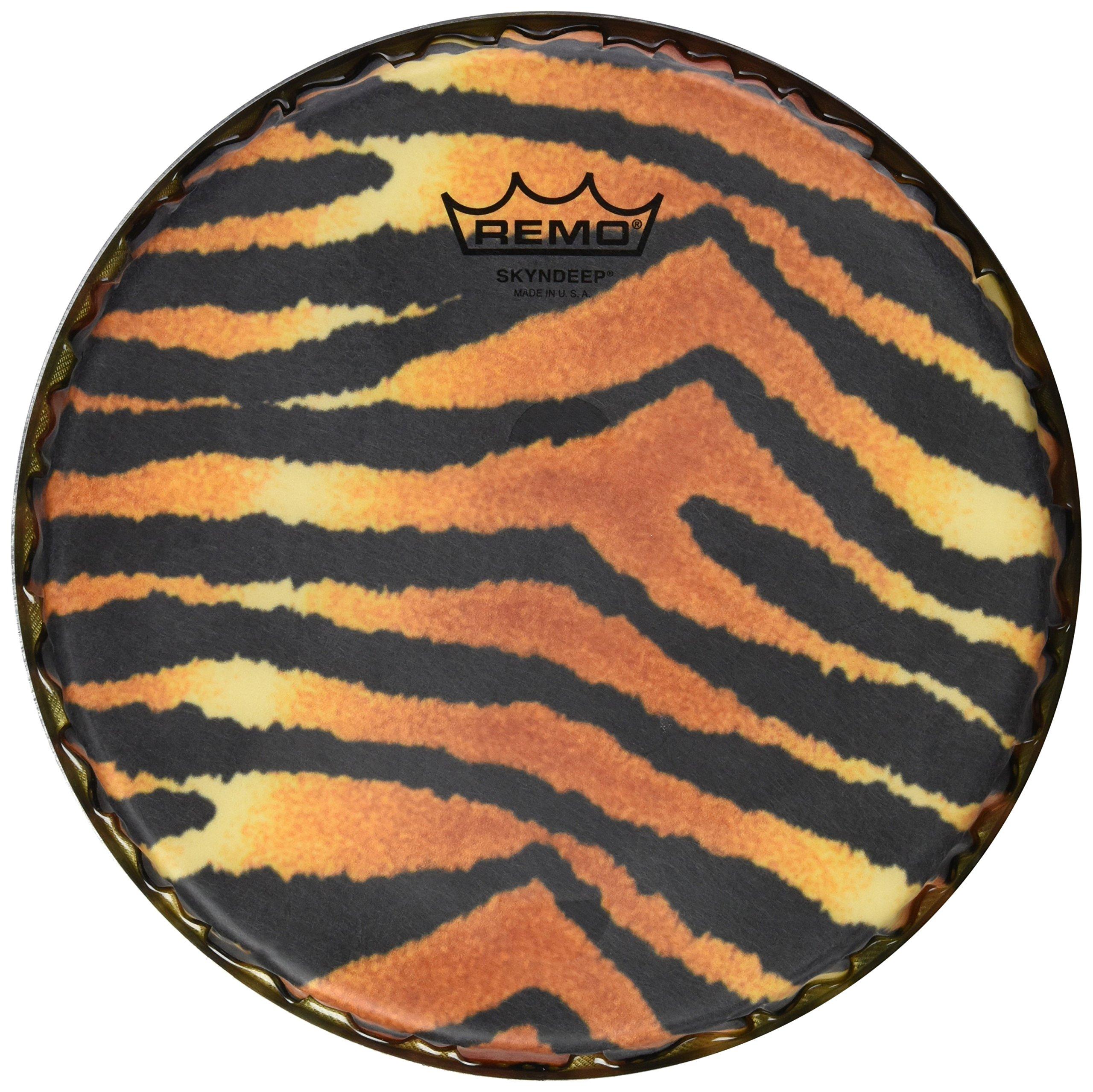 Remo Bongo Drumhead, R-Series, 9.00'', SKYNDEEP, ''Tiger Stripe'' Graphic