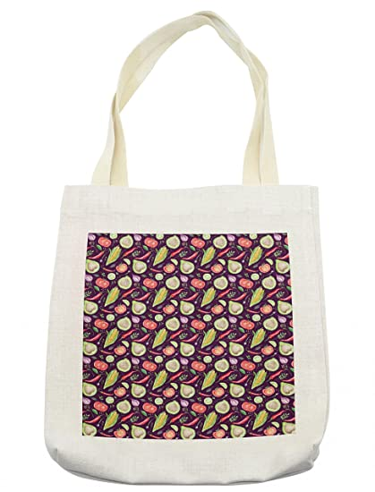 023968f8fe9b Amazon.com - Lunarable Watercolor Tote Bag, Hand Drawn Style ...