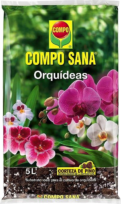 Compo Sana 8 semanas de abono para Todas Las orquídeas, Substrato de Cultivo de Corteza de Pino, 5 L, 42x23x5.5 cm: Amazon.es: Jardín