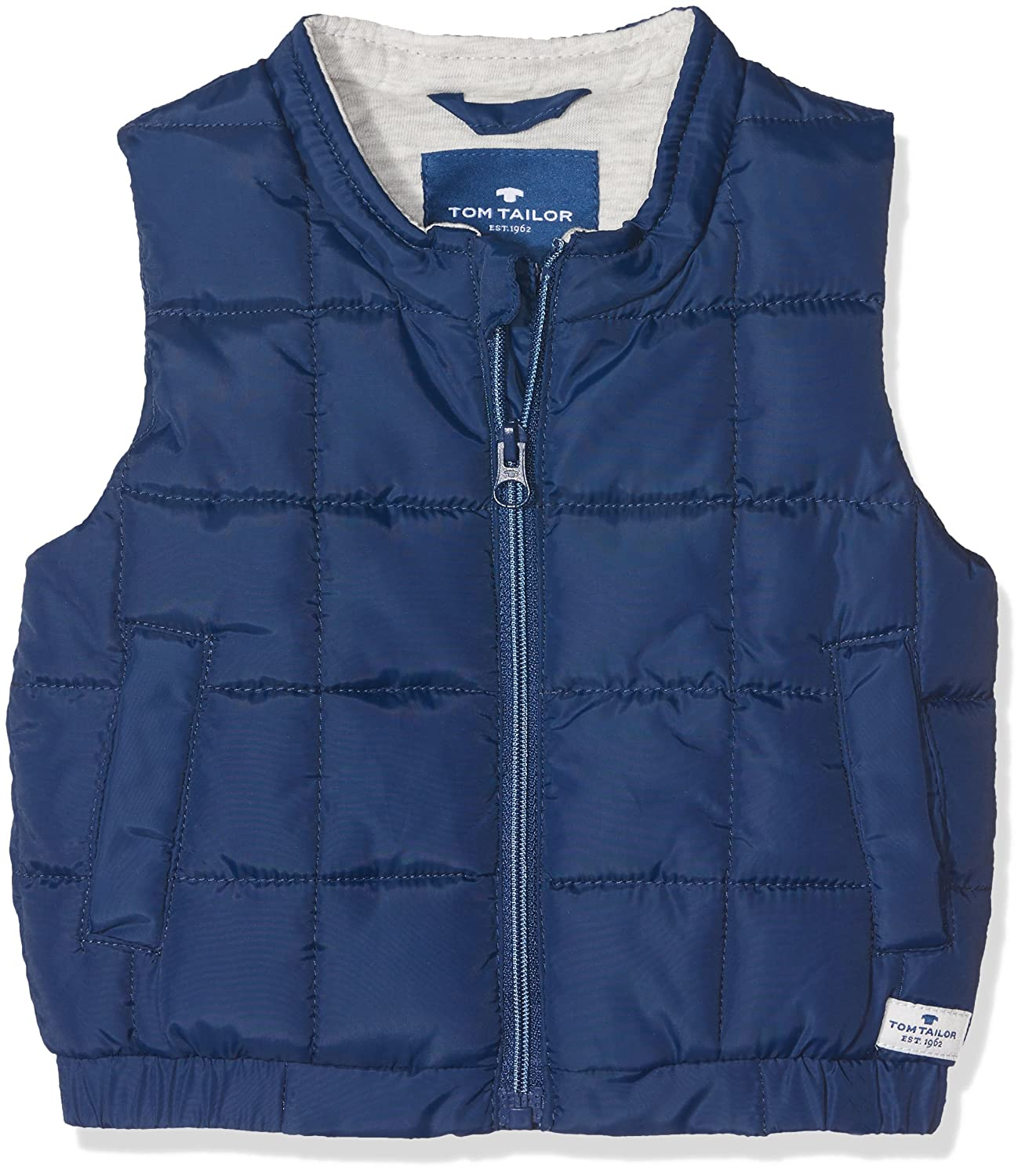 Gilet Mixte b/éb/é TOM TAILOR Weste Uni S-Less Stand-up-coll