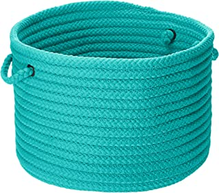 product image for Colonial Mills Simply Home Solid Utility Basket, 14 by 10-Inch, Turquoise