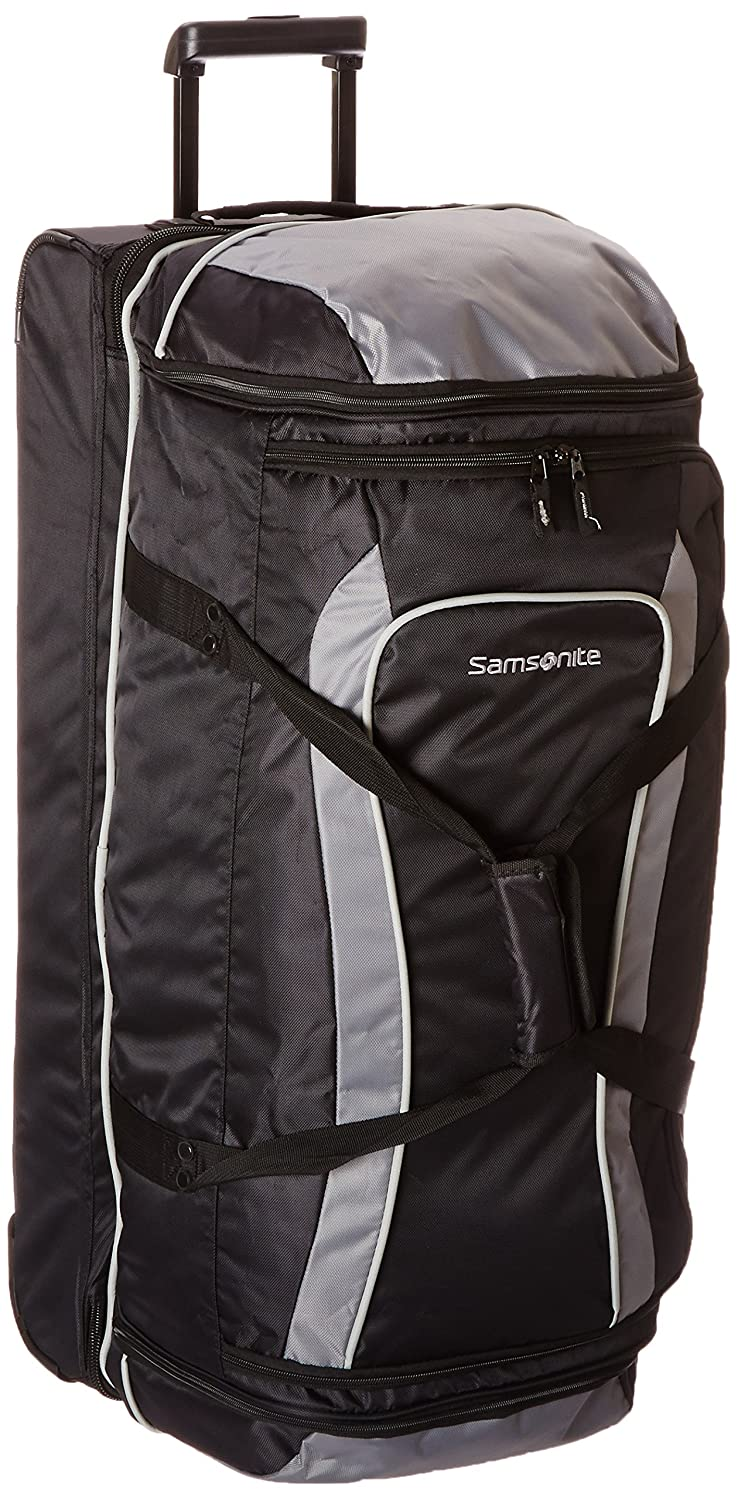 Samsonite Drop Bottom Wheeled Duffel 32, Black/Grey, One Size Samsonite Corporation 53588-1062