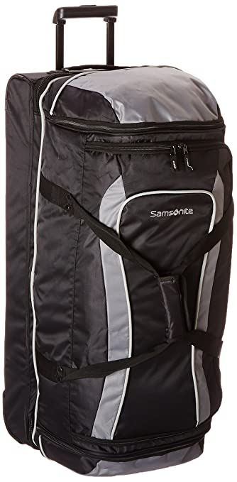 9f57822ba081 Samsonite Andante 32 quot  Drop Bottom Wheeled Duffle Black Grey