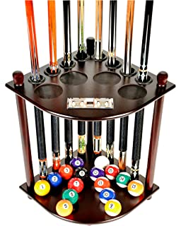 Cue Rack Only   8 Pool Billiard Stick U0026 Ball Floor Stand With Scorer Choose  Mahogany