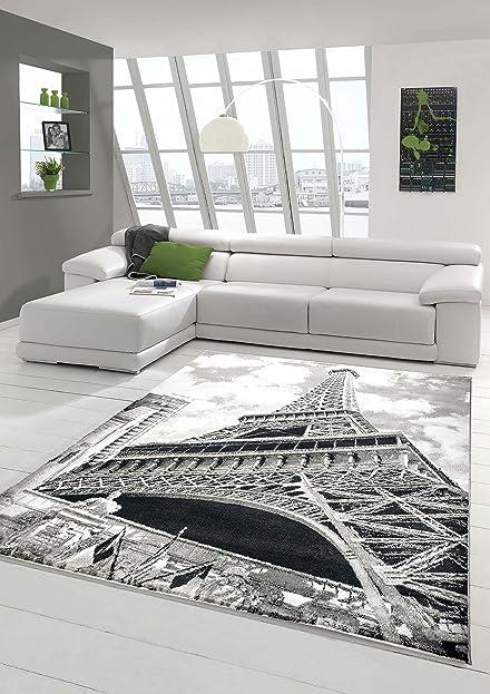 Designer Teppich Moderner Teppich Wohnzimmer Teppich Eiffelturm ...