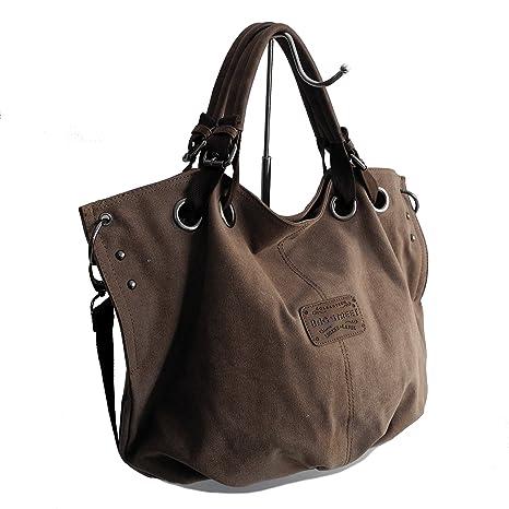 ZMOKA® Bag Street Bolso informal de lona para mujer, para el ...