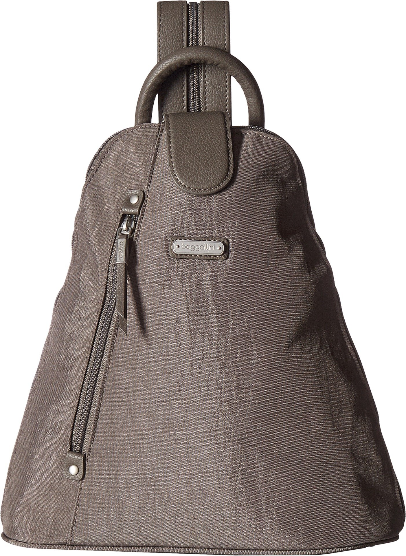 Baggallini Metro Backpack with Rfid Phone Wristlet, Sterling Shimmer