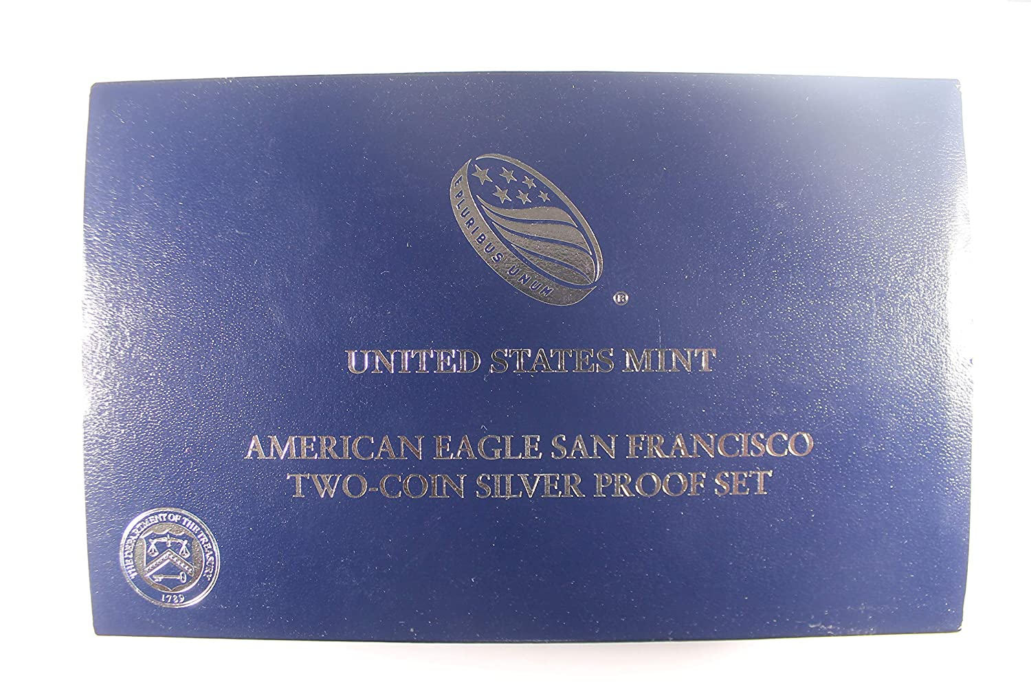 2 Two 2012 American Eagle San Francisco Two Coin Silver Proof Set box NO COINS