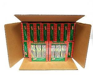 Brach's Cherry Candy Canes,16 x 12 Count , 6LB Box (96oz 192 ct.)
