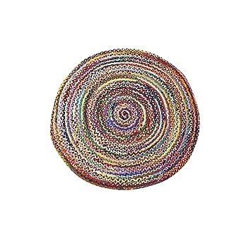 Amazon Com Mystiquedecors Round Area Rug Braided Multicolor