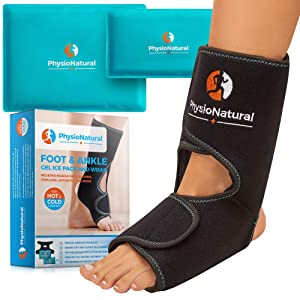 Foot & Ankle Ice Pack – Instant Relief for Plantar Fasciitis, Achilles Tendon Injuries, Sprained Ankle, Swelling, Arthritis, Heel Spur, Post Surgery, Bursitis & Aches - Hot & Cold Therapy