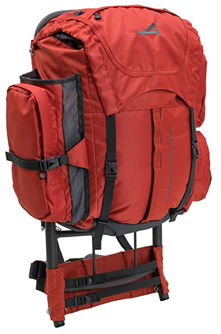 Amazon.com: ALPS Mountaineering Red Rock External Frame Pack, 34 ...