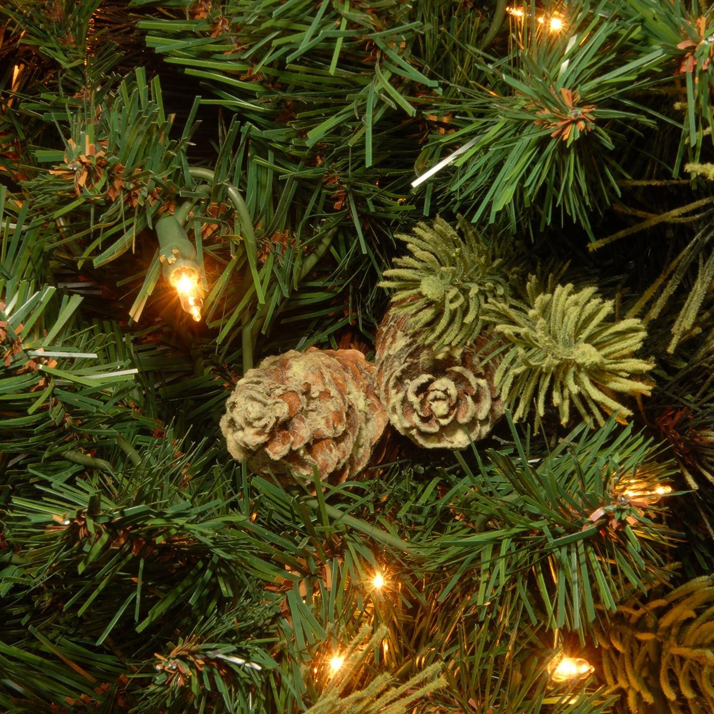 Amazoncom National Tree 75 Foot Carolina Pine Tree With Flocked