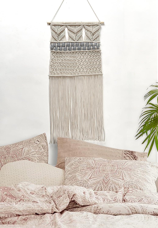 Handgemachter Makramee-Wandteppich, gewebt, Bohemian-Stil,91,4cm Länge x 38,1cm Breite  91 1 cm Breite Craftura