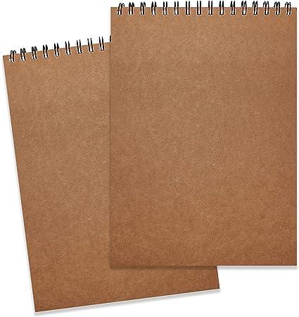 Bloc de Dibujo A4 (Pack de 2) - 128g/m² 46 Hojas en Cada Cuaderno Papel Texturizado,