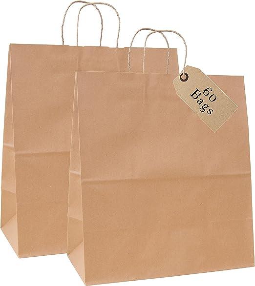 Amazon.com: Increíble empaque: bolsas de papel kraft de 18.0 ...