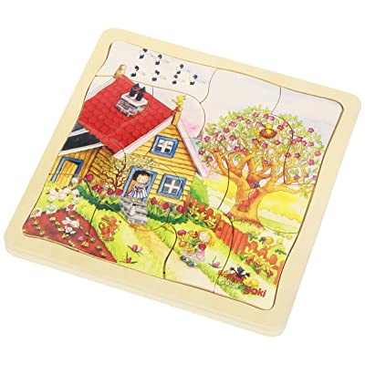 Goki Layers Seasons Puzzle (44 Piece): Toys & Games