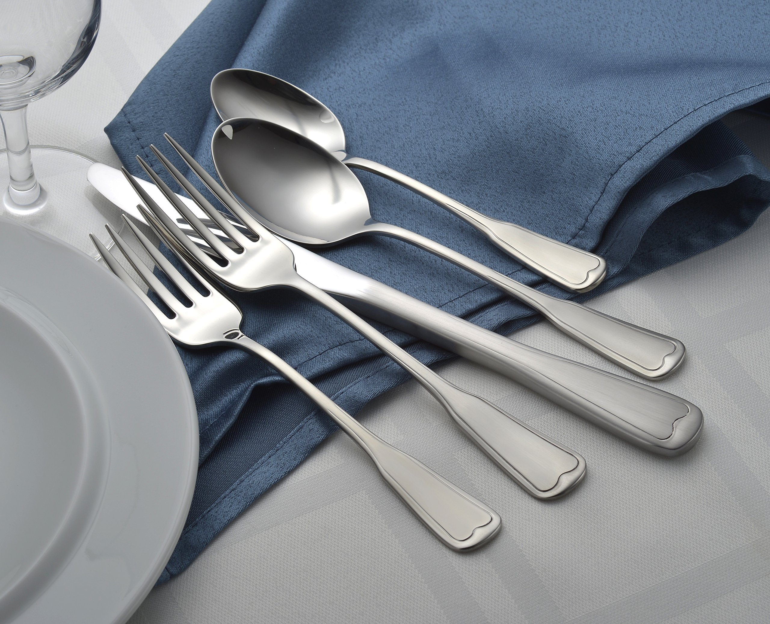 Liberty Tabletop Satin Richmond 20 Piece Flatware Set service for 4 stainless steel 18/10 Made in USA by Liberty Tabletop (Image #6)