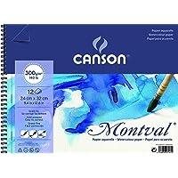 Bloco Espiralado Textura Fina 24x32cm 300g/m², Canson, 60807161, Montval, 12 Folhas