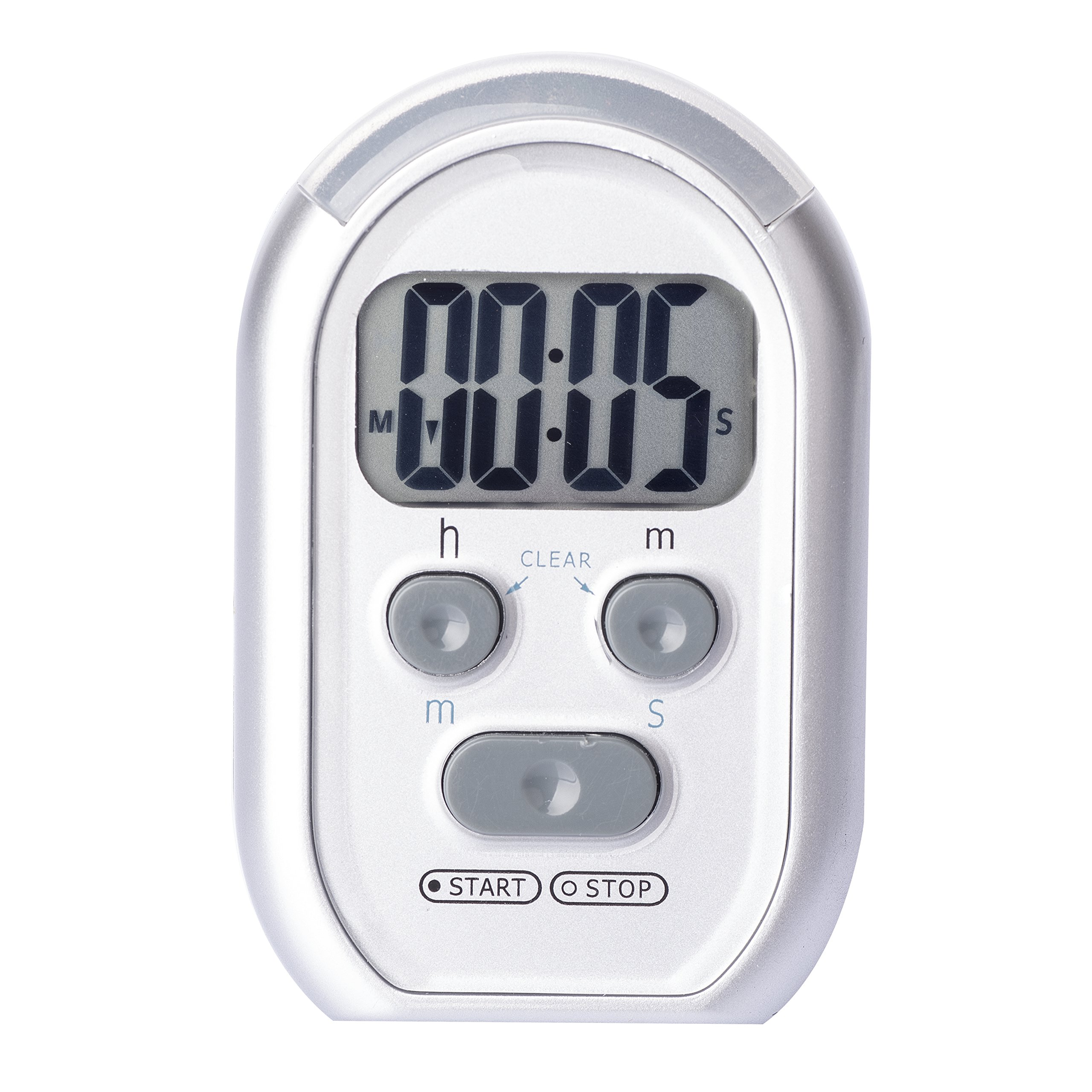 ZYQY x-wlang 3-in-1 Alerts timer 1013 with vibration,beep and flash.(kitchen timer,medical timer,therapeutic timer),silver