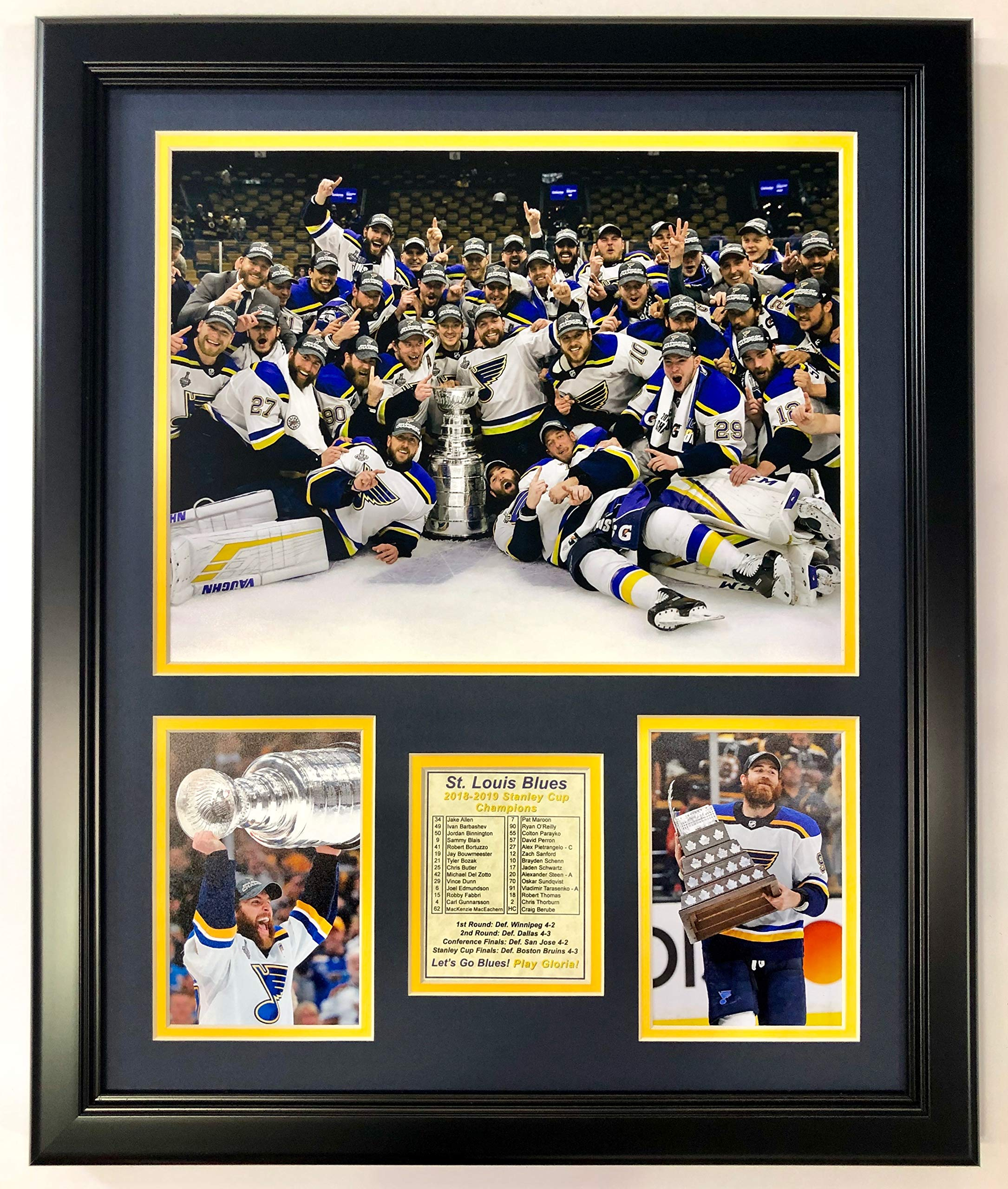 Legends Never Die St. Louis Blues - Stanley Cup Champions - Posed - 18'' x 22'' Framed Photo Collage, Inc.