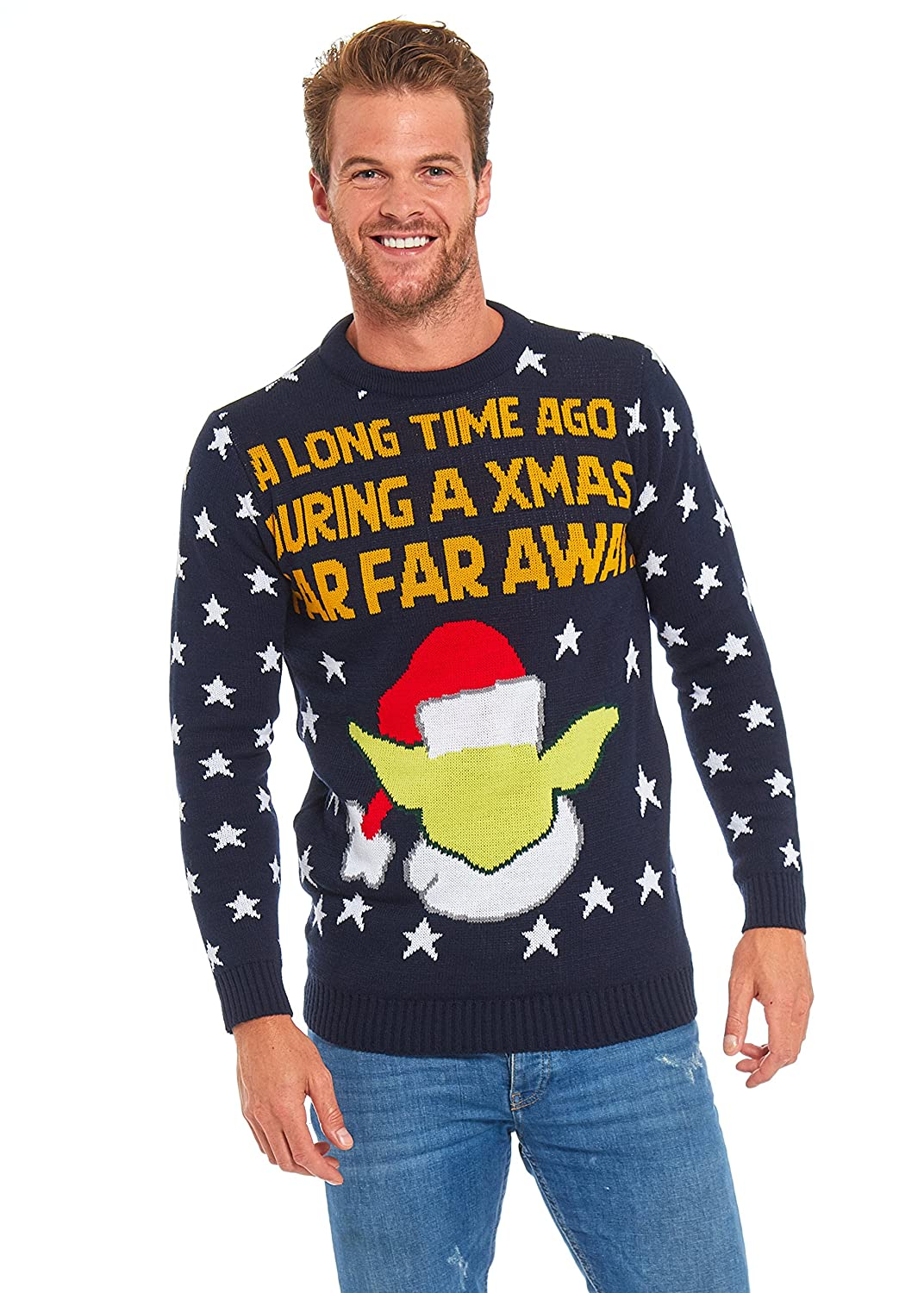 U LOOK UGLY TODAY Mens Christmas Ugly Sweater Unisex Jumper for Xmas Party Holiday